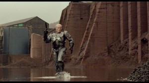 Robocop walks on water?