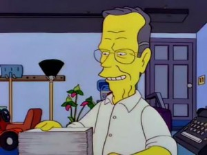 George Bush on the Simpsons