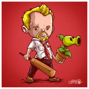 Shaun of the Dead Art