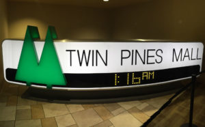 The Twin Pines Mall Sign