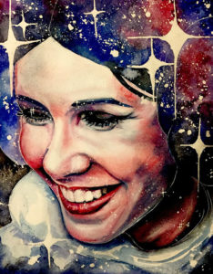 Carrie Fisher Princess Leia Art
